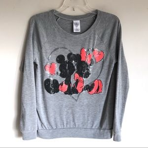 Disney Juniors Sequins Mickey Minnie Top